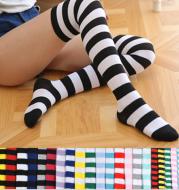 Stockings ladies over knee socks Japanese thigh socks striped high socks socks