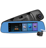 Cross border special supply for new 8 inch crane recorder 4G cloud mirror 1080P HD Android rear view mirror driving record