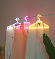 LED Neon Light Sign Clothes Stand USB Powered Hanger