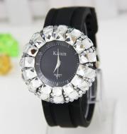 Trendy Gypsophila Big Dial Full Diamond Watch