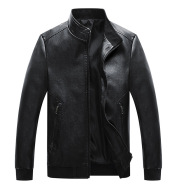 Spring And Autumn New Men's Washed PU Leather Jacket