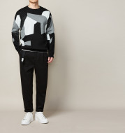 New Autumn And Winter Round Neck Pullover Jacquard Men's Sweater