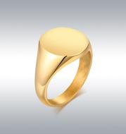 Polished titanium steel exquisite polished ring