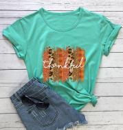 Autumn and winter print T-shirt