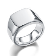 Vintage Stainless Steel Smooth Plain Ring