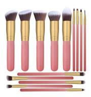 14pcs Wood Handle Makeup Brush Set