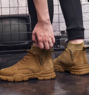 Men's work shoes high top shoes