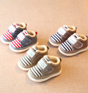 New winter warm baby cotton shoes with velvet
