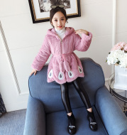Children's thick fur coat