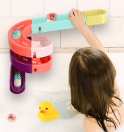Kids Bath Toys Wall Suction Cup Marble Race Run Track Bathroom Bathtub Baby Play Water Games Toy Kit for Children