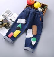 Boys' sports casual jeans spring