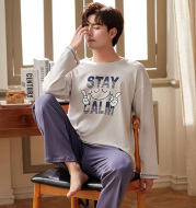 Men's Spring And Autumn Knitted Homewear