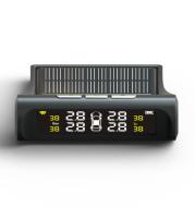 Tire Pressure Monitoring System Automotive Universal Wireless Solar Tire Pressure Monitor External Tire Pressure Detector