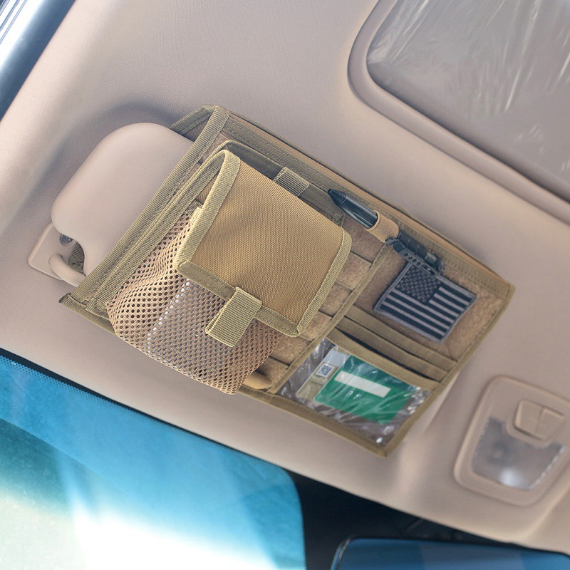 Vehicle Visor Panel Truck Car Sun Visor Organizer CD Bag Holder Car Styling Hunting Accessories allinonehere.com