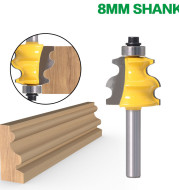 Woodworking Milling Cutter with Curved Shank Cutter