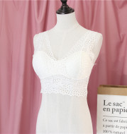 Lace beautiful back wrap chest strap chest pad
