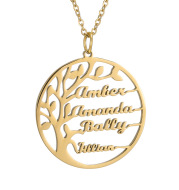 Letter Pendant Necklace Jewelry