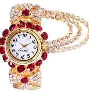 All-match Ladies Diamond Claw Chain Quartz Watch