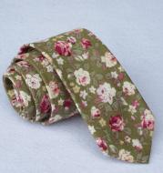 Men's cotton printed tie