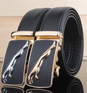 Men's belt leather automatic buckle Leopard pure leather belt