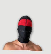 Fetish series transparent mouth zipper hood