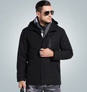 Outdoor heated charge padded jacket