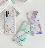 Electroplated marble mobile phone case