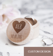 Personalized Wedding Ring Box Custom Wedding Ring Box Engagement Party Wooden Ring Bearer Storage Box