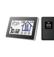 Touch screen indoor and outdoor electronic thermometer and hygrometer wireless thermometer and hygrometer