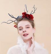 Forest branch antler headband