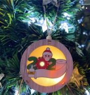 Santa Claus Light Box Survivor Pendant
