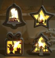 Luminescent wood pendant