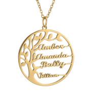 Custom letter pendant necklace