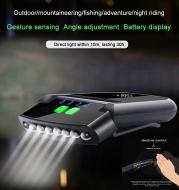 LED Smart Sensor Headlight Night Fishing Sports Cycling Charging Strong Bright Light