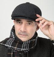 Woolen middle-aged cap