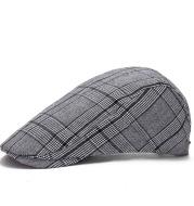 Autumn and winter outdoor plaid cap