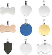 Stainless Steel Dog Tag Necklace Titanium Steel Pet Identity Tag Listing