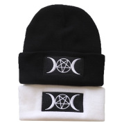 European and American Star Trend GOTH Beanie Embroidery Knitted Hat