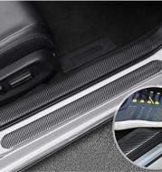 Automobile Threshold Bar Anti-stick General Door Side Bumper Stickers Universal Modified Pedal Trim Strips Carbon Fiber Pattern