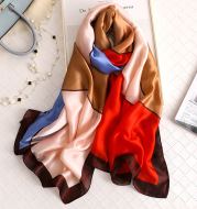 Matching colour travel sunscreen scarves