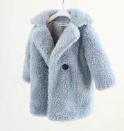 Big kids fur coat imitation in autumn and winter coat