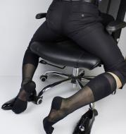 Super thin high tube men's silk stockings