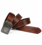 Auspicious Pattern Embossing Of Men's And Women's Belts