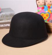 Woolen bowler hat