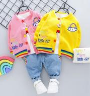 Rainbow Long Sleeve Kids Three-piece Set