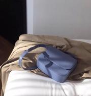 Solid Color Single Shoulder Crossbody Saddle Bag
