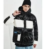 Waterproof men's down jacket