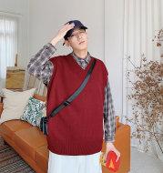 Sleeveless sweater coat autumn waistcoat vest