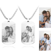 Diy To Map Custom Stainless Steel Photo Necklace