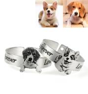 Stainless Steel Custom Pet Photo Rings